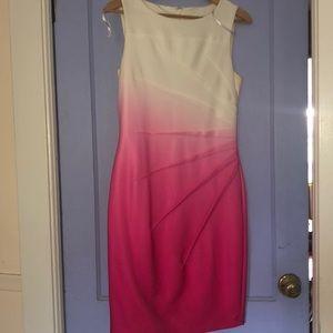 Calvin Klein Pink Ombré Dress